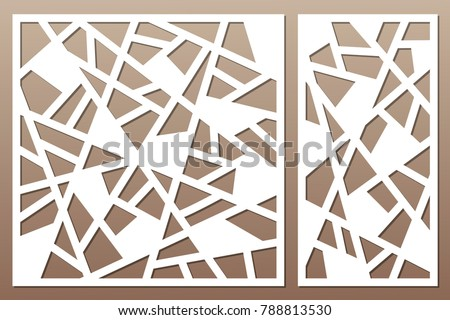 set decorative card for cutting