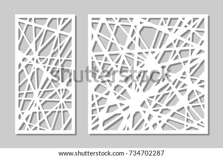 set decorative panel laser