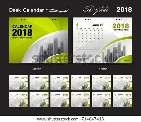 Design Template Of Desk Calendar 2019 Download Free Vector Art
