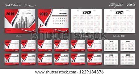 Calendar 2019 Template With Wave Background Download Free Vector