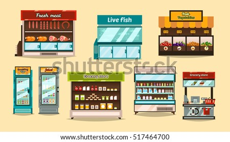 set displays  supermarket