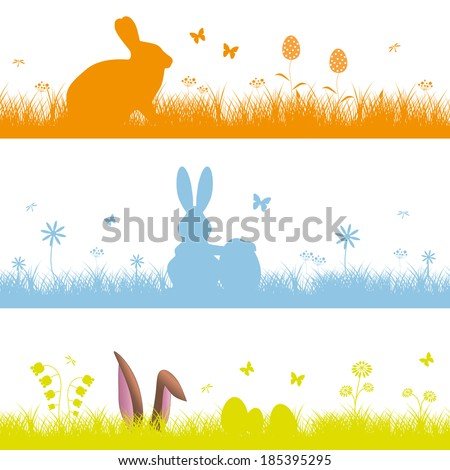 Set easter background