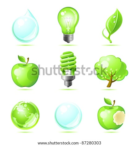 set eco icons for your