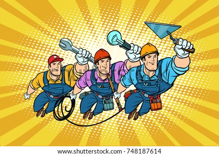 set electrician builder and