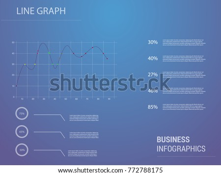 Set elements of infographics. line graphics Vector Illustration for presentation #772788175