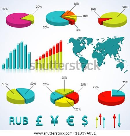 Set elements of infographics. Vector  illustration.Eps10.
