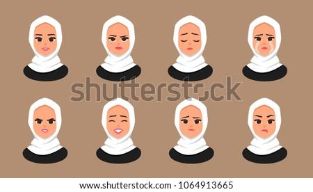set facial expressions young