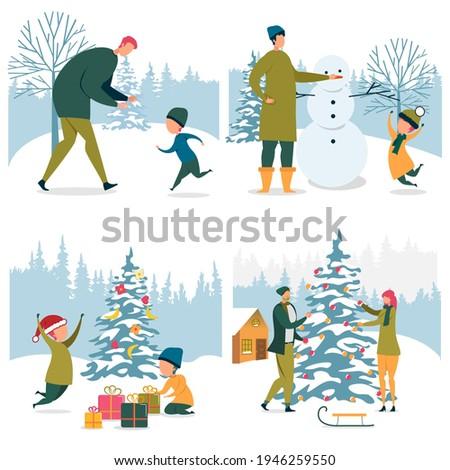 set family winter activities on