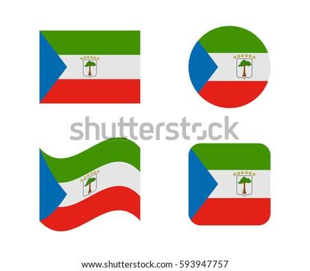 set 4 flags of equatorial guinea