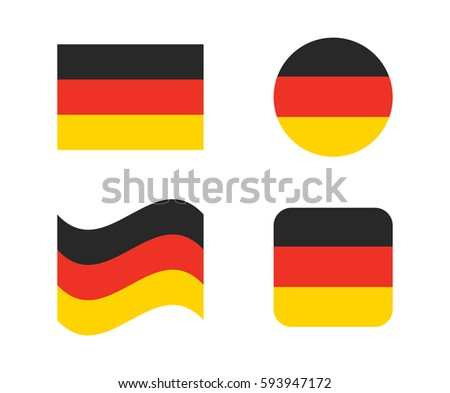 set 4 flags of germany