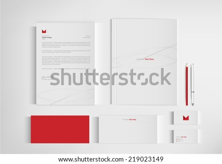 set folder documentation for business. vector