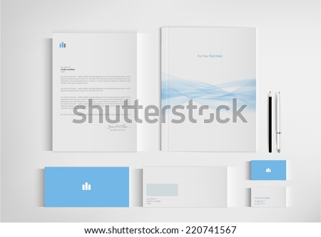 set folder documentation for business vector