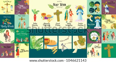 set for christianity holy week