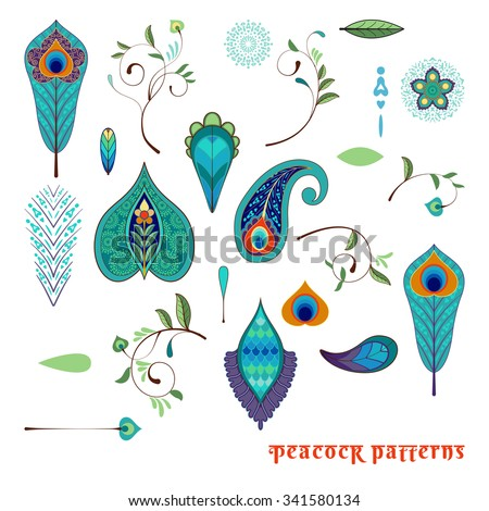 set for design with peacock