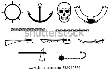 set for pirate logo