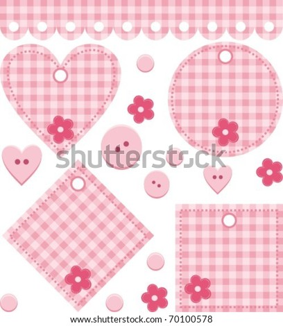 set for scrapbook - stock vector