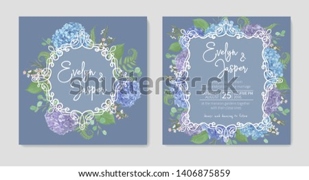 set for two wedding invitation