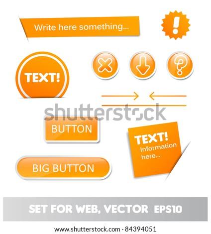 set for web, web page elements