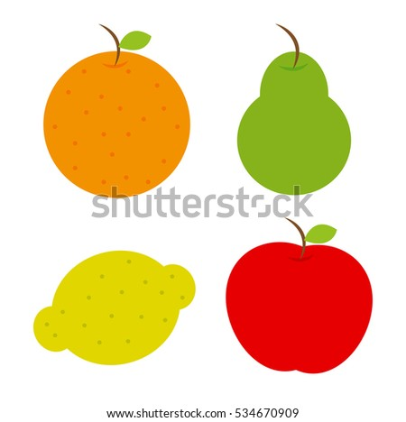 set fruits  vector  eps  jpg