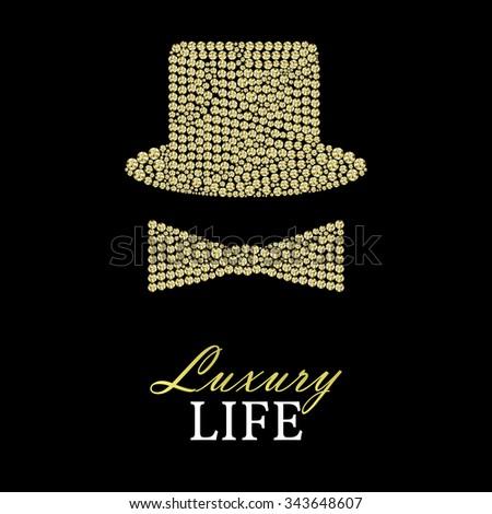 set gentleman  bowler hat or
