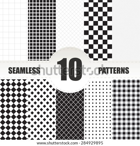set geometric vector pattern