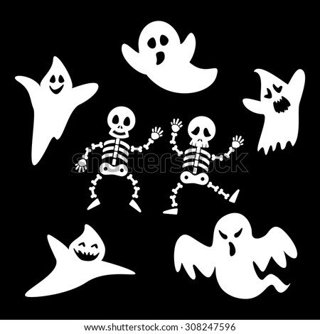 set ghosts and skeleton of