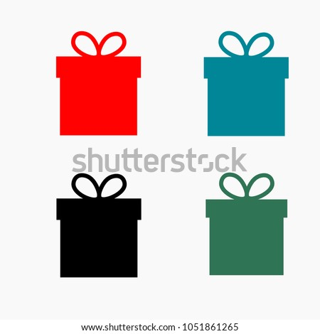 Set Gift box,Gift box,Gift box,Gift box,Gift box. Gift box line vector icon. Present sign with bow symbol.