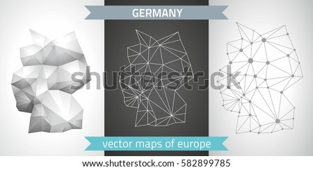 set graphic vector maps of