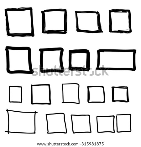 vector images illustrations and cliparts set hand drawn square