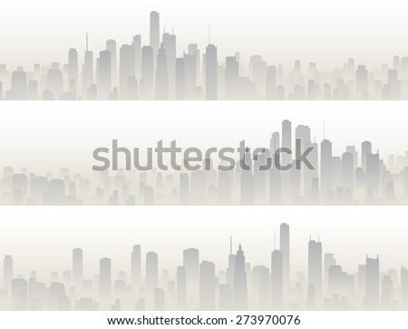 set horizontal banners of big