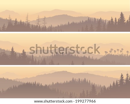 set horizontal banners of wild
