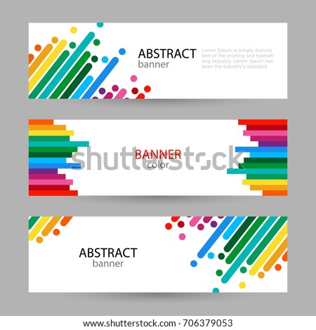set horizontal banners with