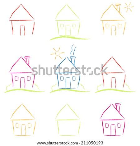 Set house drawings