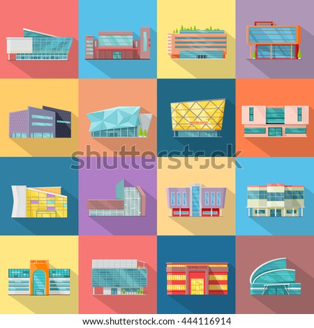 set houses  buildings  and