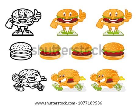 set icon crazy street food