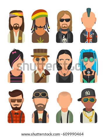 set icon different subcultures