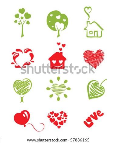 set icon -- hearts