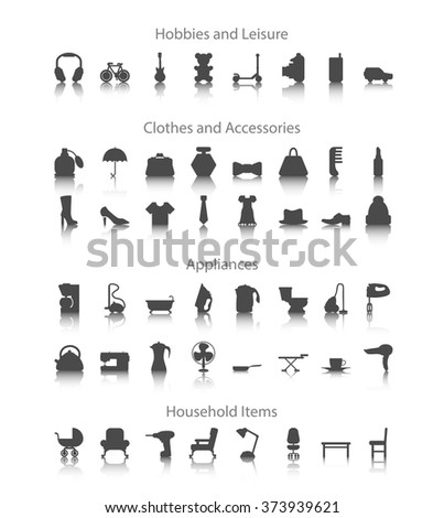 set icons for hobbies  leisure