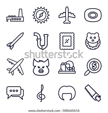 set icons set set of 16 set