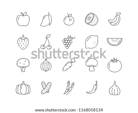 Set 20 Icons Vegan food, set of badges, emblems and stamps vector #1168058134