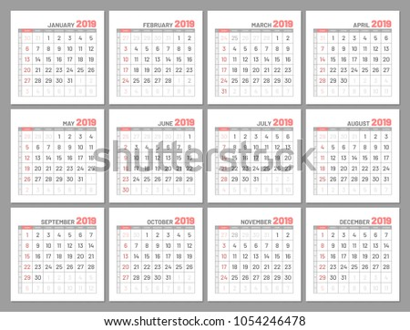 Year 2017 Calendar With Months Download Free Vector Art Stock