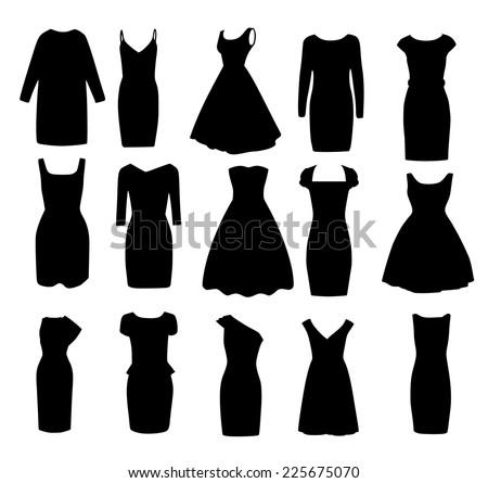 set if black different shapes