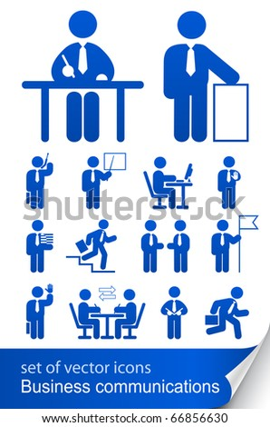 set informational business icon vector illustration isolated on white background - stock vector