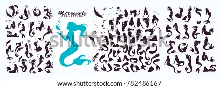 stock-vector-set-ink-sketch-collection-of-mermaids-and-siren-creator-isolated-on-white-hand-drawn-realistic