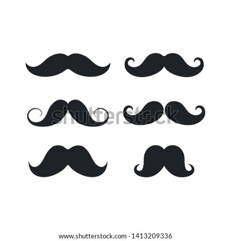 Set italy mustache icon on white background. Simple illustration of italy mustache vector icon for web