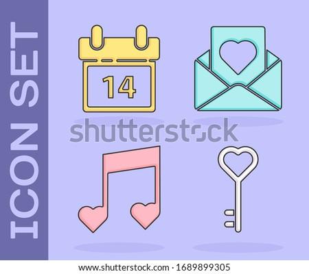 set key in heart shape
