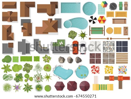 set landscape elements  top