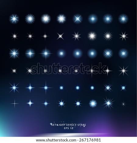 set light effect stars vector