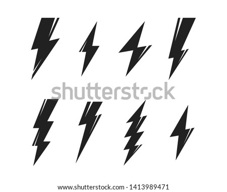 Lightning bolt flash thunderbolt icons vector - Download