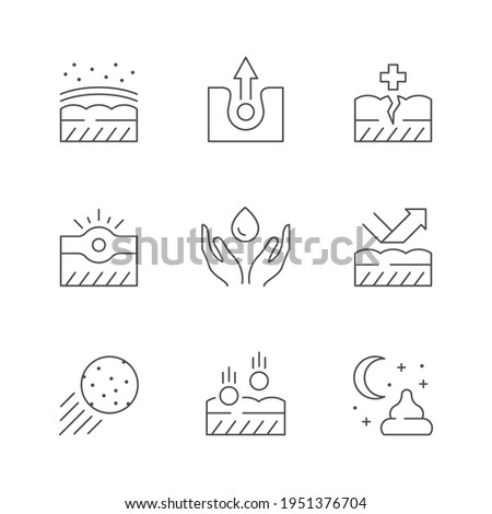 Set line icons of skin care Foto stock ©